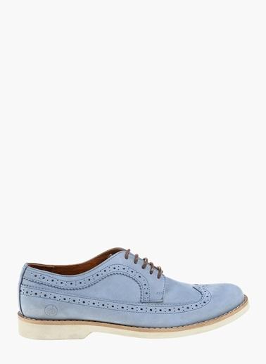 Divarese %100 Deri Oxford Ayakkabı Mavi